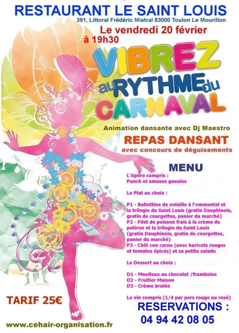 Photos de soiree dansante avec repas soiree carnaval for Repas de soiree